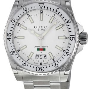 Gucci Ya136302 Kello Valkoinen / Teräs