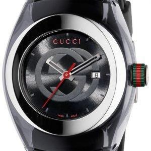 Gucci Ya137301 Kello Musta / Kumi