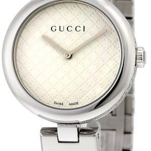 Gucci Ya141402 Kello Valkoinen / Teräs