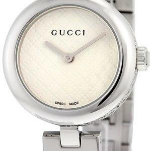 Gucci Ya141502 Kello Valkoinen / Teräs