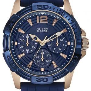Guess Oasis W0366g4 Kello Sininen / Punakultasävyinen