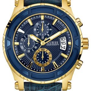 Guess Pinnacle W0673g2 Kello Sininen / Nahka