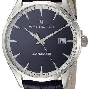 Hamilton Jazzmaster H32451641 Kello Sininen / Nahka