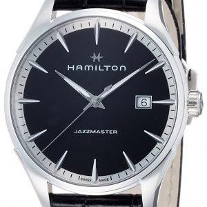 Hamilton Jazzmaster H32451731 Kello Musta / Nahka