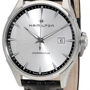 Hamilton Jazzmaster H32451751 Kello Hopea / Nahka