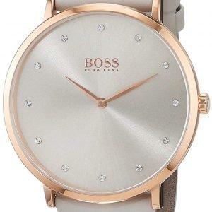 Hugo Boss 1502412 Kello Hopea / Nahka