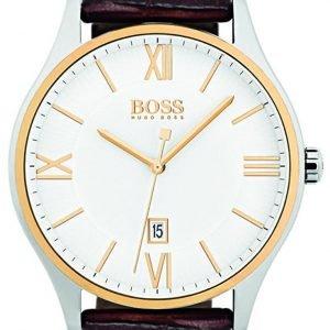 Hugo Boss 1513486 Kello Valkoinen / Nahka