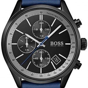 Hugo Boss 1513563 Kello Musta / Nahka