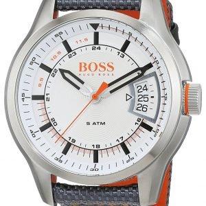 Hugo Boss 1550015 Kello Valkoinen / Nahka