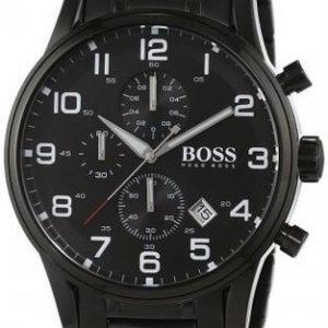 Hugo Boss Aeroliner 1513180 Kello Musta / Teräs