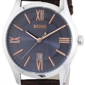 Hugo Boss Ambassador 1513041 Kello Harmaa / Nahka