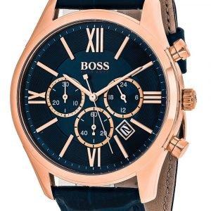 Hugo Boss Ambassador 1513320 Kello Sininen / Nahka