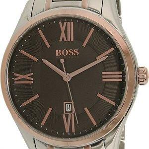Hugo Boss Ambassador 1513388 Kello Harmaa / Punakultasävyinen