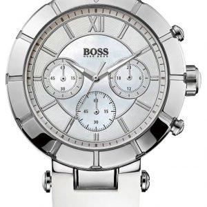 Hugo Boss Chronograph 1502314 Kello Valkoinen / Kumi