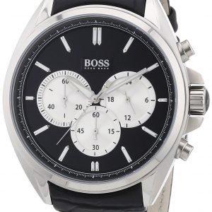 Hugo Boss Chronograph 1512879 Kello Musta / Nahka