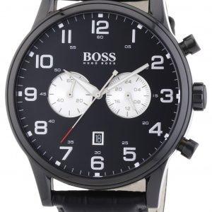 Hugo Boss Chronograph 1512920 Kello Musta / Nahka