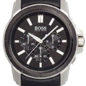 Hugo Boss Chronograph 1512926 Kello Musta / Nahka