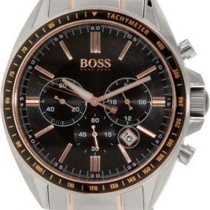 Hugo Boss Chronograph 1513094 Kello Musta / Punakultasävyinen