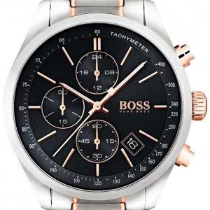 Hugo Boss Chronograph 1513473 Kello Musta / Punakultasävyinen