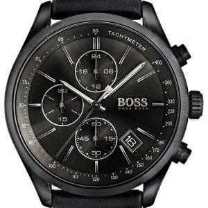 Hugo Boss Chronograph 1513474 Kello Musta / Nahka