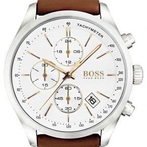 Hugo Boss Chronograph 1513475 Kello Valkoinen / Nahka
