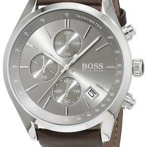 Hugo Boss Chronograph 1513476 Kello Harmaa / Nahka