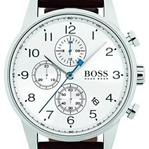 Hugo Boss Chronograph 1513495 Kello Valkoinen / Nahka