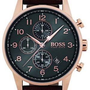 Hugo Boss Chronograph 1513496 Kello Harmaa / Nahka