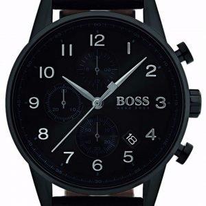 Hugo Boss Chronograph 1513497 Kello Musta / Nahka