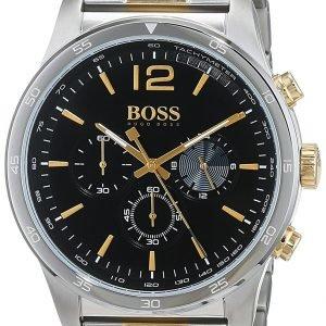 Hugo Boss Chronograph 1513529 Kello Musta / Kullansävytetty
