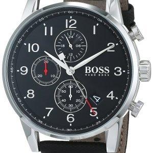 Hugo Boss Chronograph 1513535 Kello Musta / Nahka