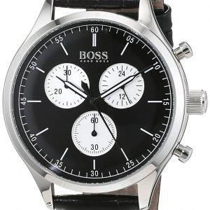 Hugo Boss Chronograph 1513543 Kello Musta / Nahka