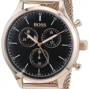 Hugo Boss Chronograph 1513548 Kello Musta / Punakultasävyinen