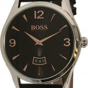 Hugo Boss Commander 1513425 Kello Musta / Nahka