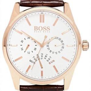 Hugo Boss Heritage 1513125 Kello Valkoinen / Nahka