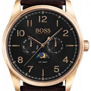 Hugo Boss Heritage 1513468 Kello Musta / Nahka