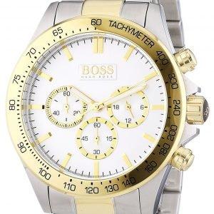 Hugo Boss Ikon 1512960 Kello Valkoinen / Kullansävytetty