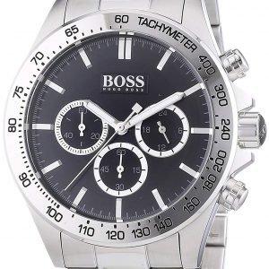 Hugo Boss Ikon 1512965 Kello Musta / Teräs
