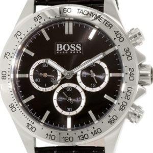 Hugo Boss Ikon 1513178 Kello Musta / Nahka