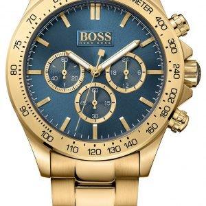 Hugo Boss Ikon 1513340 Kello Sininen / Kullansävytetty Teräs