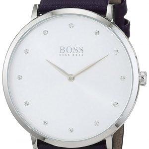 Hugo Boss Jillian 1502410 Kello Valkoinen / Nahka