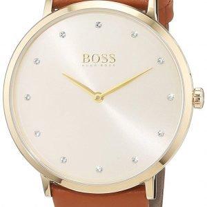 Hugo Boss Jillian 1502411 Kello Samppanja / Nahka