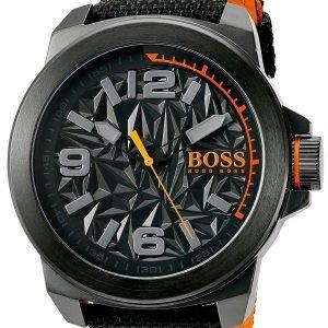 Hugo Boss New York 1513343 Kello Musta / Nahka