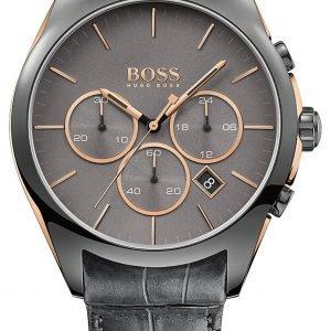 Hugo Boss Onyx 1513366 Kello Harmaa / Nahka