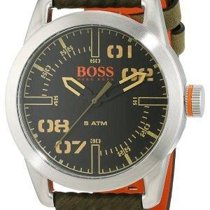Hugo Boss Oslo 1513415 Kello Musta / Nahka