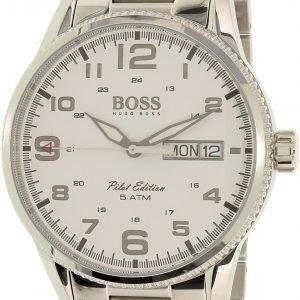 Hugo Boss Pilot Vintage 1513328 Kello Valkoinen / Teräs