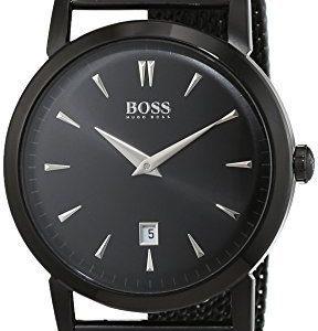 Hugo Boss Slim 1513235 Kello Musta / Teräs