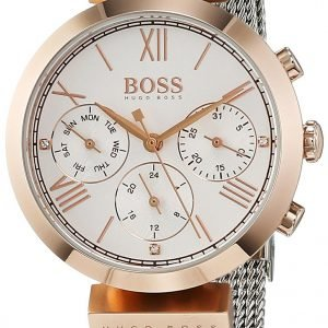 Hugo Boss Sport 1502427 Kello Valkoinen / Teräs