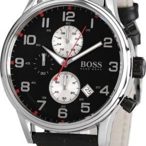 Hugo Boss Sport 1512631 Kello Musta / Nahka