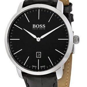 Hugo Boss Swiss Made 1513258 Kello Musta / Nahka